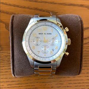 Michael Kors men's two toned watch